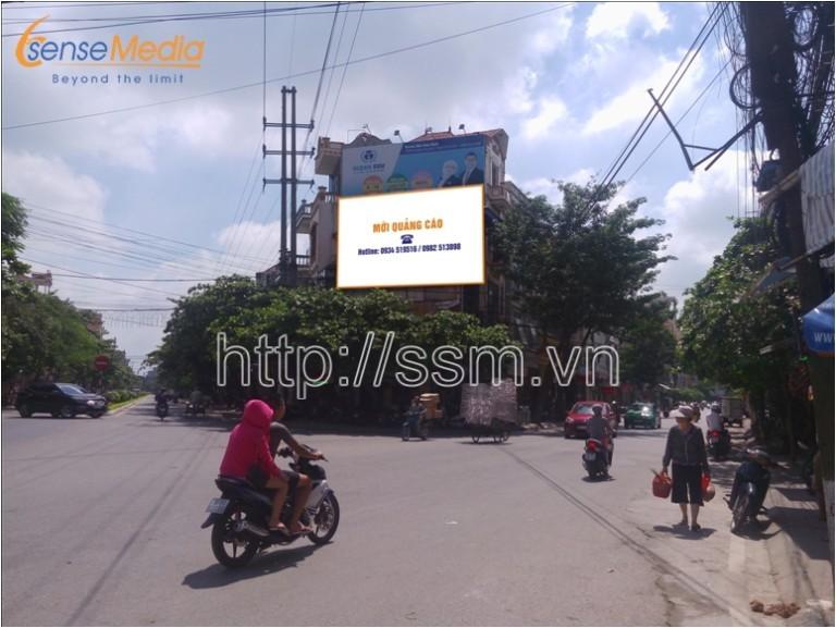 Vị trí Biển quảng cáo được đặt tại ngã tư đường Thành Chung – Điện Biên – Lương Thế Vinh – Trường Trinh