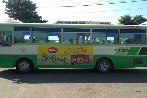 quảng cáo xe bus tại Quy Nhơn