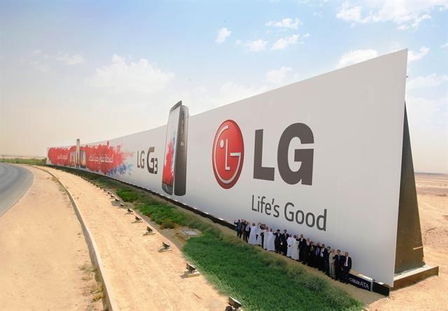 Biển quảng cáo lớn nhất thế giới có diện tích 3000m2 thuộc sở hữu của LG.
