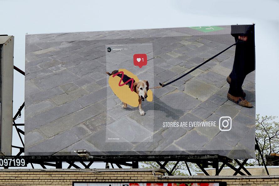 Instagram và ý tưởng biển quảng cáo độc đáo từ người dùng