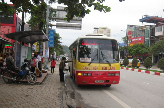 Quảng cáo trên xe buýt tại Thái Nguyên