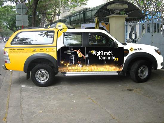 thiết kế quảng cáo xe tải