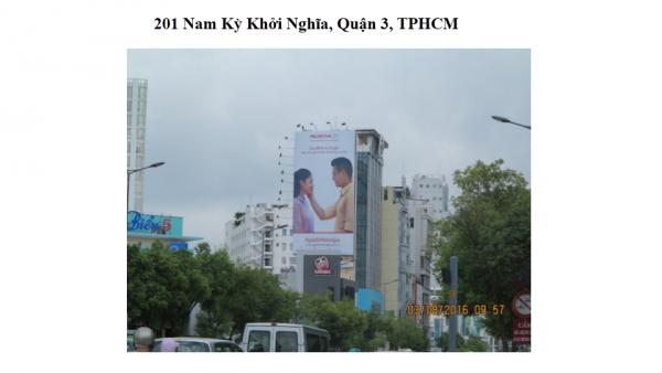 Pano quảng cáo tại số 201 Nam Kỳ Khởi Nghĩa, Quận 3, TPHCM