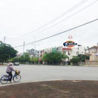 Pano quảng cáo tại số 234 Trần Thái Tông, ngã tư Trần Phú, Thái Bình
