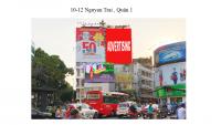 Pano quảng cáo tại số 10-12 Nguyễn Trãi ,Quận 1, TPHCM