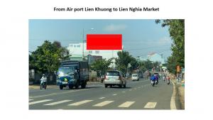 Pano quảng cáo hướng đi từ sân bay Liên Khương đến chợ Liên Nghĩa