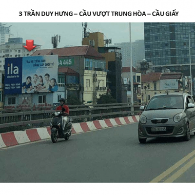 Pano quảng cáo tại số 3 Trần Duy Hưng, Cầu Vượt, Trung Hòa, Cầu Giấy, Hà Nội
