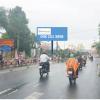 Billboard trên cầu Hoàng Diệu, công viên 8-3, giao lộ Đinh Tiên Hoàng - Trần Hưng Đạo, Long Xuyên, An Giang