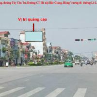 Pano quảng cáo tại Đường Hùng Vương, thành phố Bắc Giang