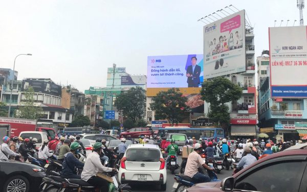 Màn hình LED tại Vòng xoay Lý Thái Tổ - Điện Biên Phủ, Quận 3, TPHCM