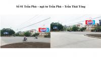 Pano quảng cáo tại ngã tư Trần Phú - Trần Thái Tông, Thái Bình