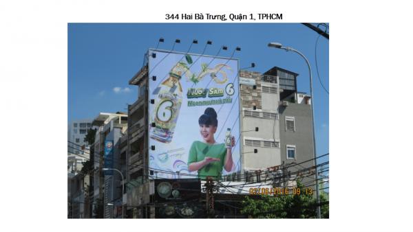 Pano quảng cáo tại số 344 Hai Bà Trưng, Quận 1, TPHCM