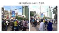 Pano quảng cáo tại số 232 Hồng Bàng, Quận 5, TPHCM