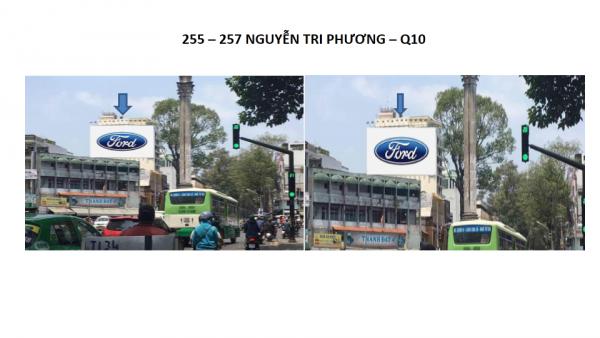 Pano quảng cáo tại số 255-257 Nguyễn Tri Phương, Quận 10, TPHCM