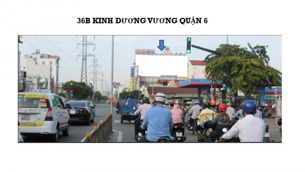 Pano quảng cáo tại số 36B Kinh Dương Vương, Quận 6, TPHCM
