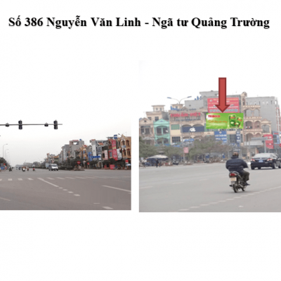 Pano quảng cáo tại số 386 Nguyễn Văn Linh, Hưng Yên