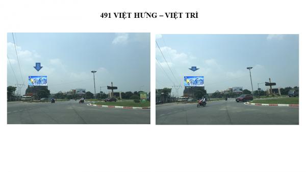 Pano quảng cáo tại số 491 Việt Hưng, Việt Trì, Phú Thọ