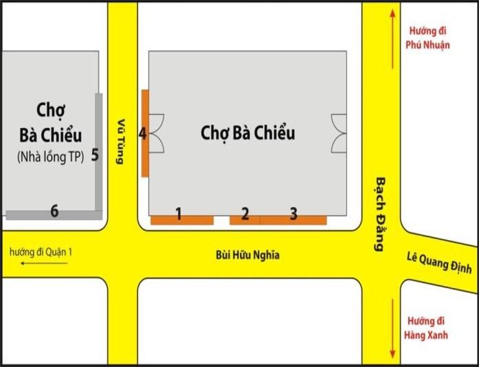 Biển quảng cáo Chợ Bà Chiểu, Quận Bình Thạnh, TPHCM