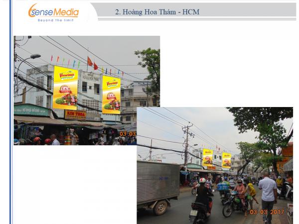 Biển quảng cáo Chợ Hoàng Hoa Thám, TPHCM