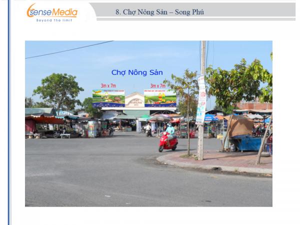 Biển quảng cáo Chợ Nông sản - Song Phú, Vĩnh Long