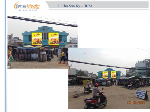 Biển quảng cáo Chợ Sơn Kỳ, TPHCM