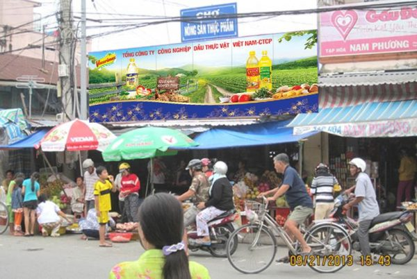 Biển Chợ Thực Phẩm – Tắc Vân, Cà Mau
