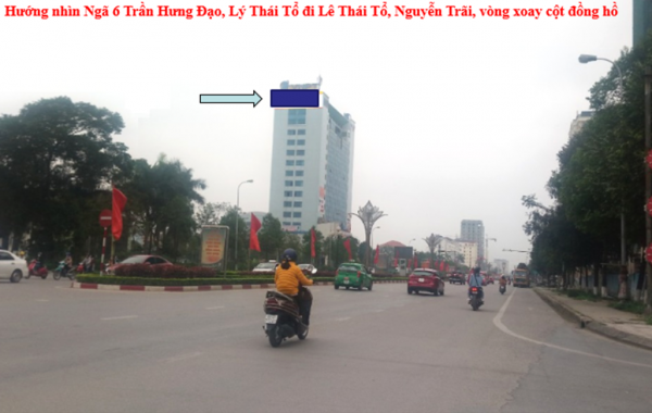 Pano quảng cáo tại đường Lý Thái Tổ, Vòng xoay cột đồng hồ, Bắc Ninh