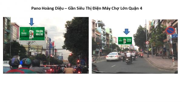 Pano quảng cáo trên đường Hoàng Diệu, Quận 4, TPHCM