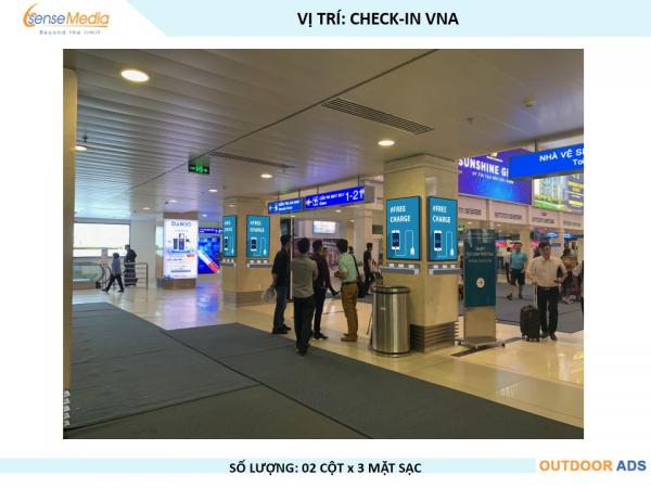Màn hình LED khu Sạc pin ga quốc nội sân bay Tân Sơn Nhất, TPHCM