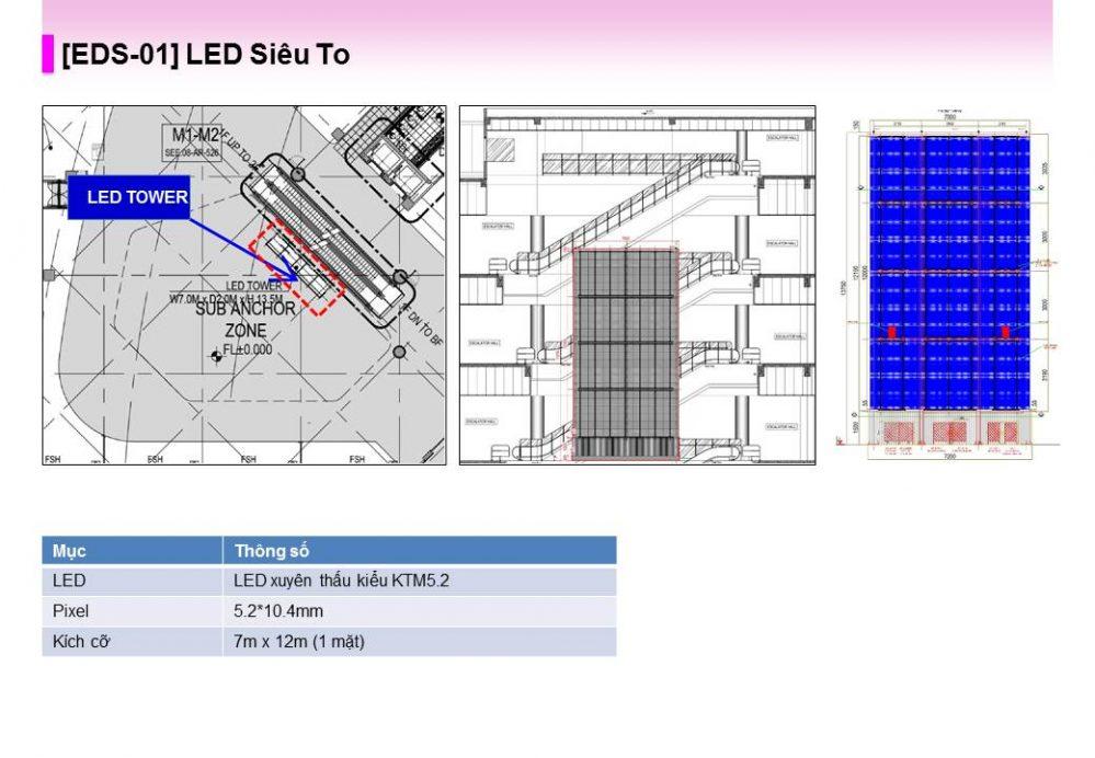 [EDS-01] màn hình LED quảng cáo Siêu To tại Aeon Mall Hà Đông