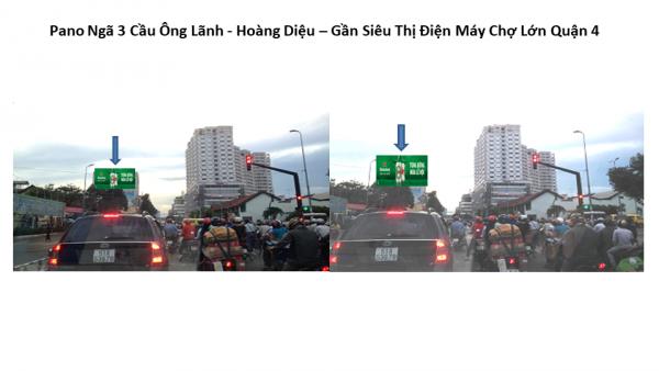 Pano quảng cáo tại Ngã ba Cầu Ông Lãnh - Hoàng Diệu, Quận 4, TPHCM