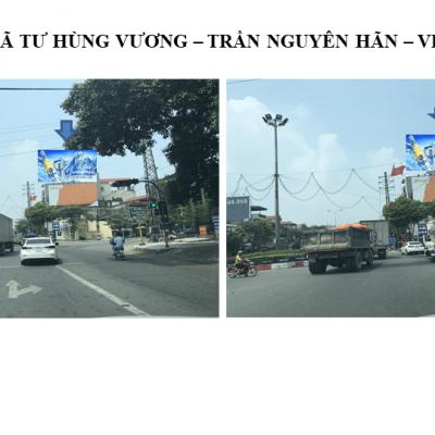 Pano quảng cáo tại Ngã tư Hùng Vương - Trần Nguyên Hãn, Phú Thọ