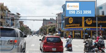 Pano quảng cáo tại ngã 4 Trần Hưng Đạo - Hàn Thuyên, Bắc Ninh
