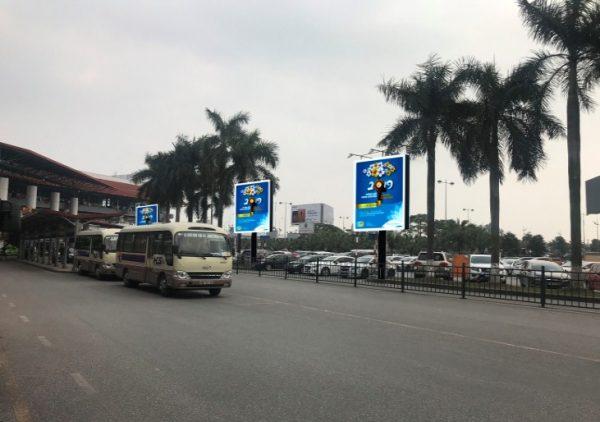 4 màn hình LED ngoài trời sảnh đến nhà ga T1, sân bay Nội Bài, Hà Nội