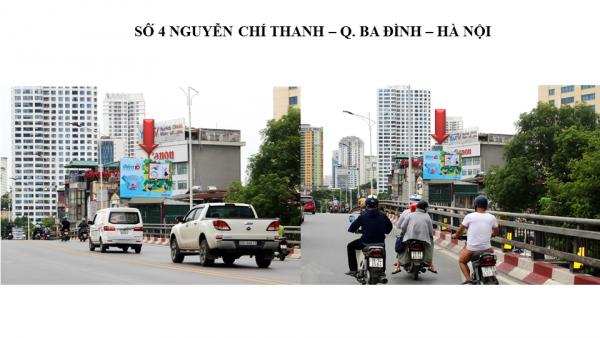 Pano quảng cáo ngoài trời tại số 4 ,Nguyễn Chí Thanh, Hà Nội