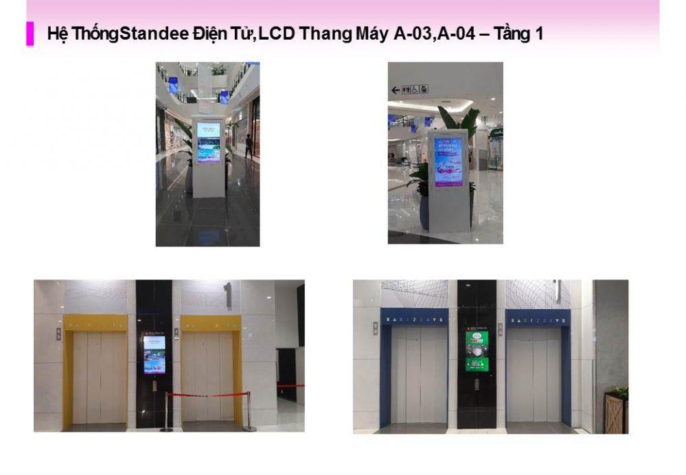 Hệ Thống Standee Điện Tử, LCD Thang Máy A-03,A-04 tại Aeon Mall Hà Đông, Hà Nội
