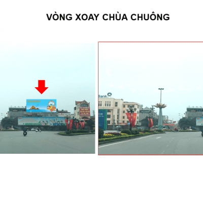 Pano quảng cáo tại Vòng xoay Chùa Chuông, TP.Hưng Yên