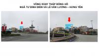 Pano quảng cáo tại Vòng xoay đồng hồ, TP.Hưng Yên