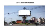 Billboard quảng cáo tại vòng xoay thành phố Tây Ninh