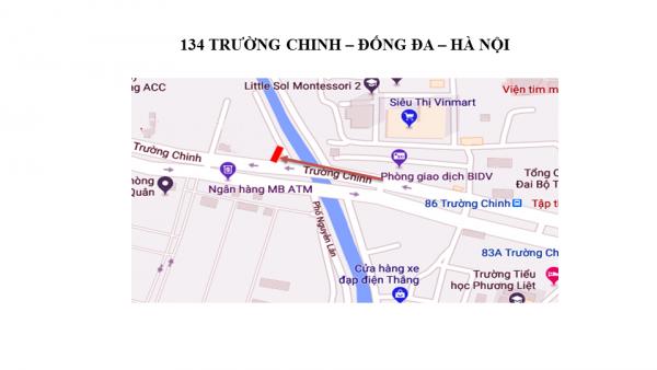 Pano quảng cáo tại Số 134 Trường Chinh, Hà Nội