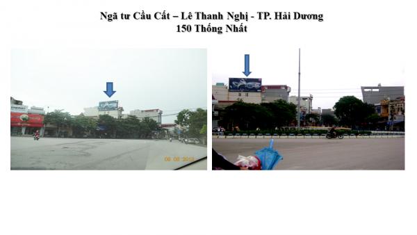 Pano quảng cáo tại số 150 Thống Nhất, TP.Hải Dương
