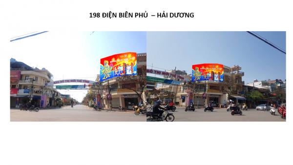 Pano quảng cáo tại số 198 Điện Biên Phủ, TP.Hải Dương