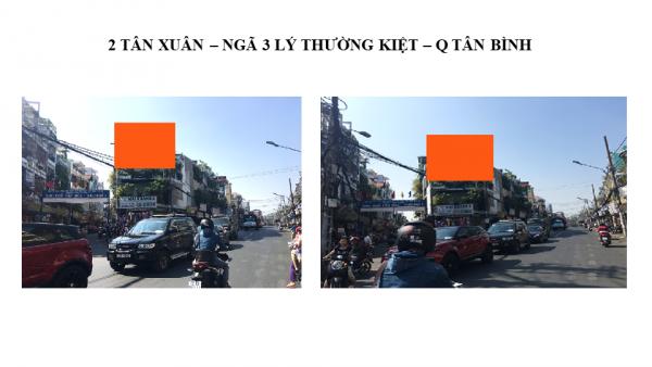 Pano quảng cáo tại số 2 Tân Xuân, Quận Tân Bình, TPHCM