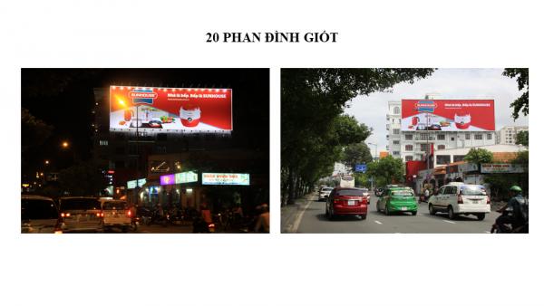 Pano quảng cáo tại 20 Phan Đình Giót, Quận Tân Bình, TPHCM