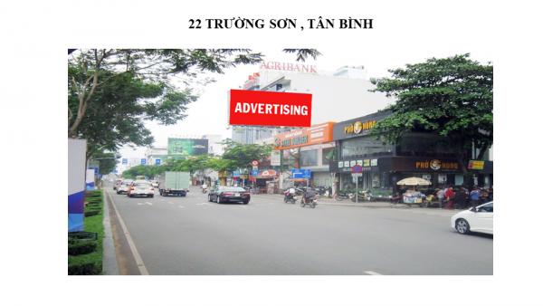 Pano quảng cáo tại 22 Trường Sơn, Quận Tân Bình, TPHCM