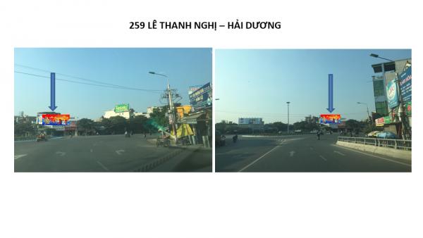 Pano quảng cáo tại số 259 Lê Thanh Nghị, TP.Hải Dương