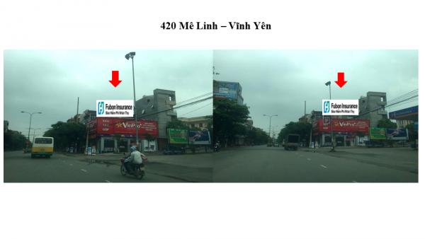 Pano quảng cáo tại số 420 Mê Linh, Vĩnh Phúc