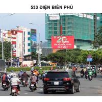 Pano quảng cáo tại 533 Điện Biên Phủ, Bình Thạnh, TPHCM