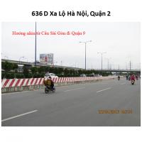 Billboard quảng cáo tại số 636D Xa lộ Hà Nội, Quận 2, TPHCM