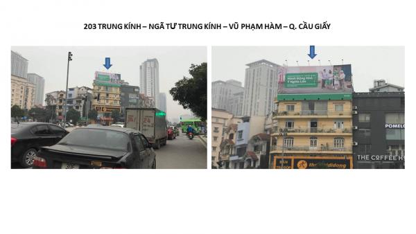 Pano quảng cáo tại 203 Trung Kính, Cầu Giấy, Hà Nội